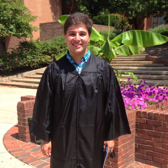 After the robing ceremony...officially a Georgetown freshman. Hoya saxa!
