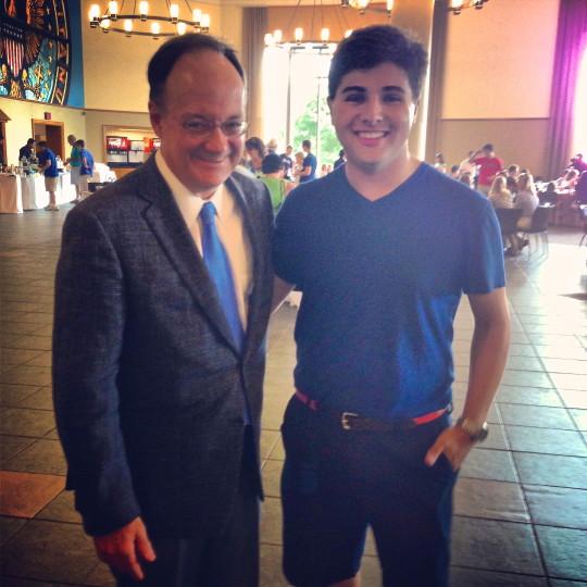With President John DeGioia