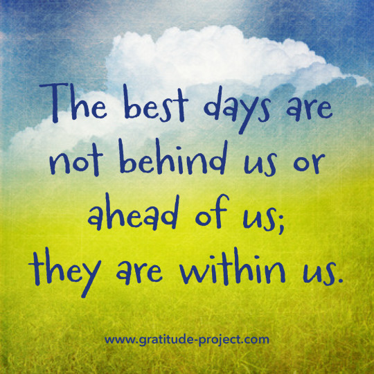 Best Days Within Us