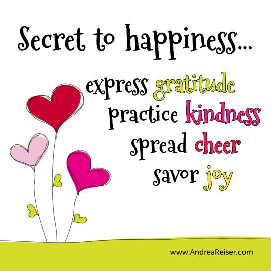 Gratitude Kindness Cheer Joy