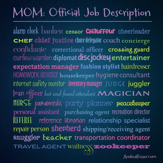 Mom-Official Job Description