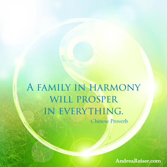 A family in harmony will prosper in everything