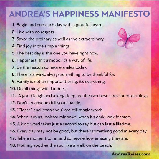 Andrea's Happiness Manifesto