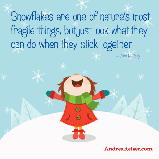 Snowflakes are one of nature's most fragile things