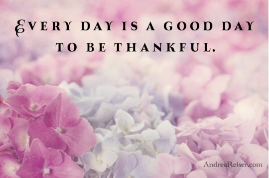 Every day is a good day to be thankful