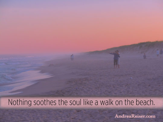 Nothing Soothes the Soul like a Walk on the Beach