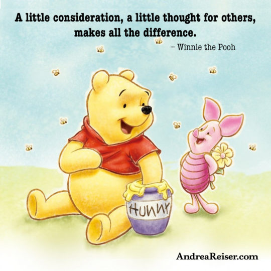 A little consideration, a little thought for others, makes all the difference